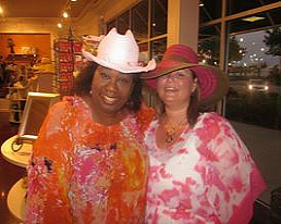 Christie and I at my 40th birthday party last year.