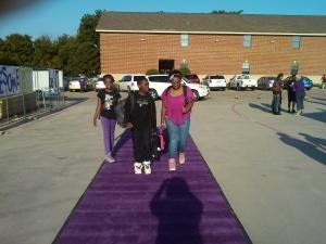 The purple carpet.