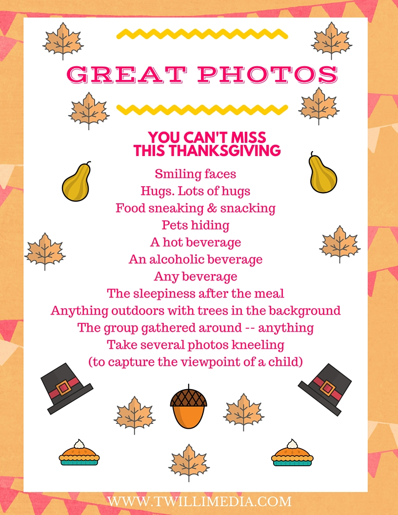 Click here to get a list of photo shots you can't miss on Thanksgiving