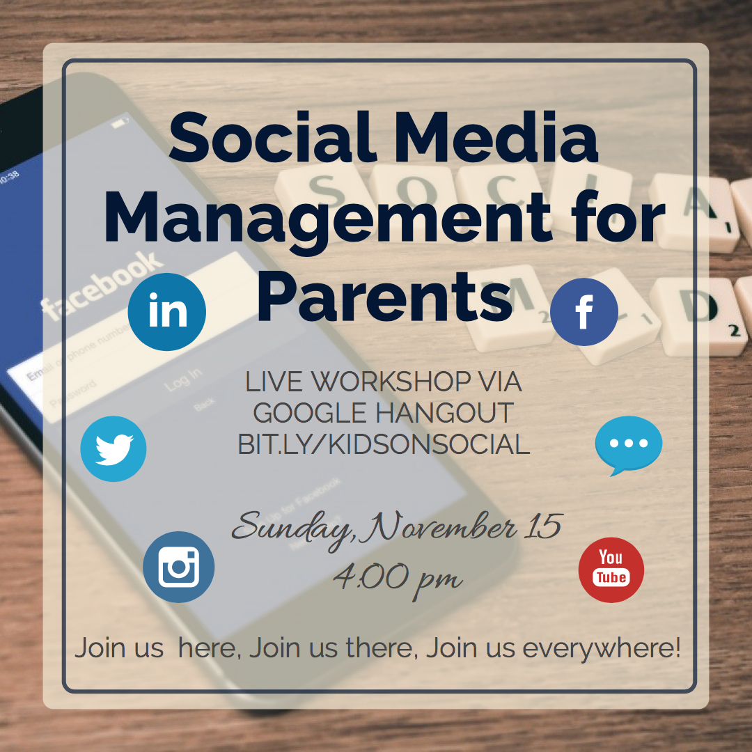 Listen an on-line workshop about kids and social media