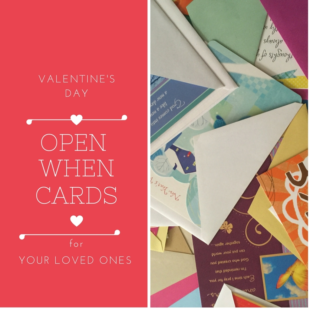 V DAY OPEN WHEN CARDS FOR KIDS