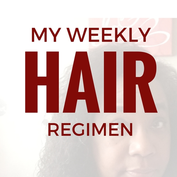 Click to see this curly girl's weekly hair regimen on www.mylifewithhimandthem.com