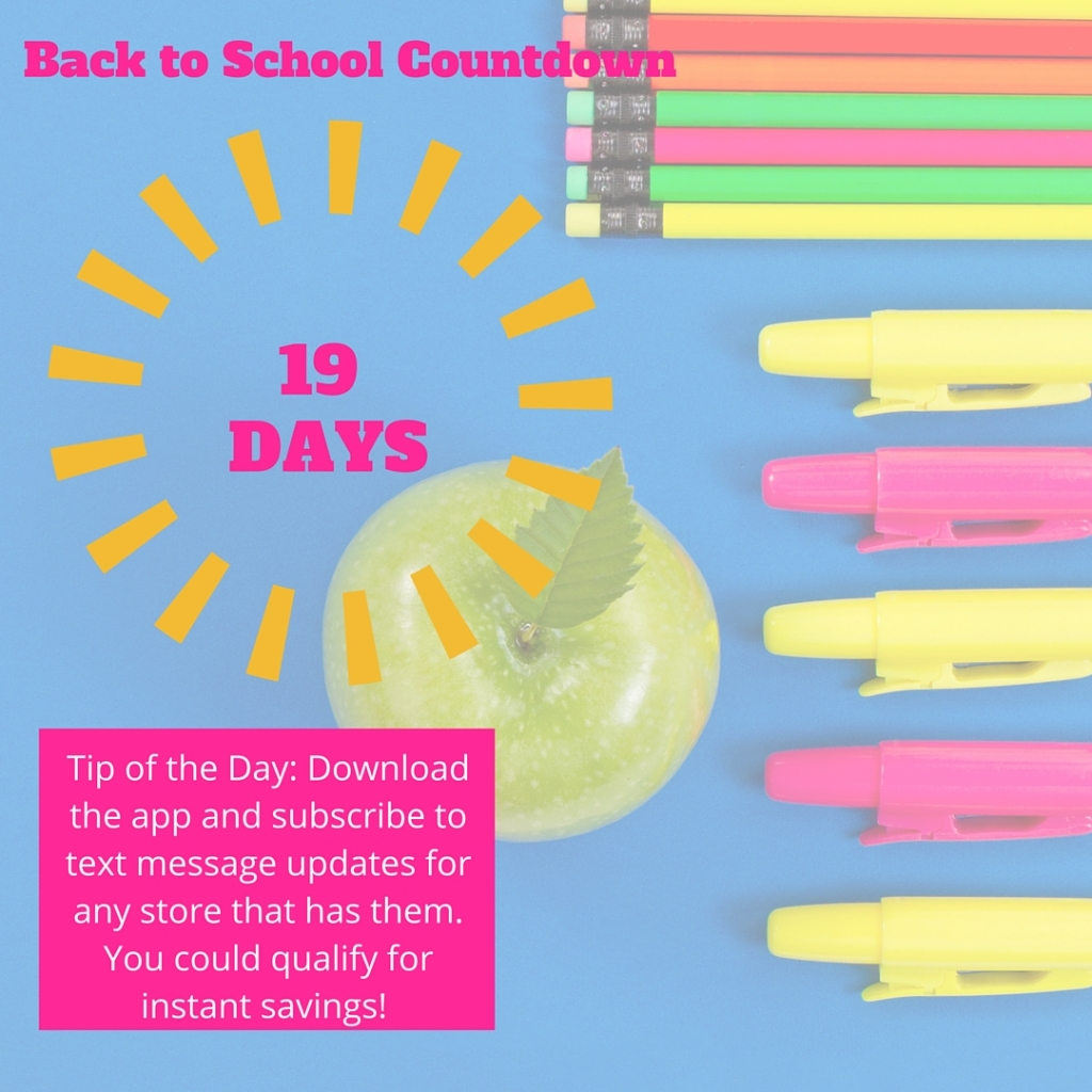 Welcome to Day 19 of our countdown until the school year begins! Most Texas schools begin the week of August 21, so I'm using that as a target date, but feel free to adjust these tips to meet the needs of your family.