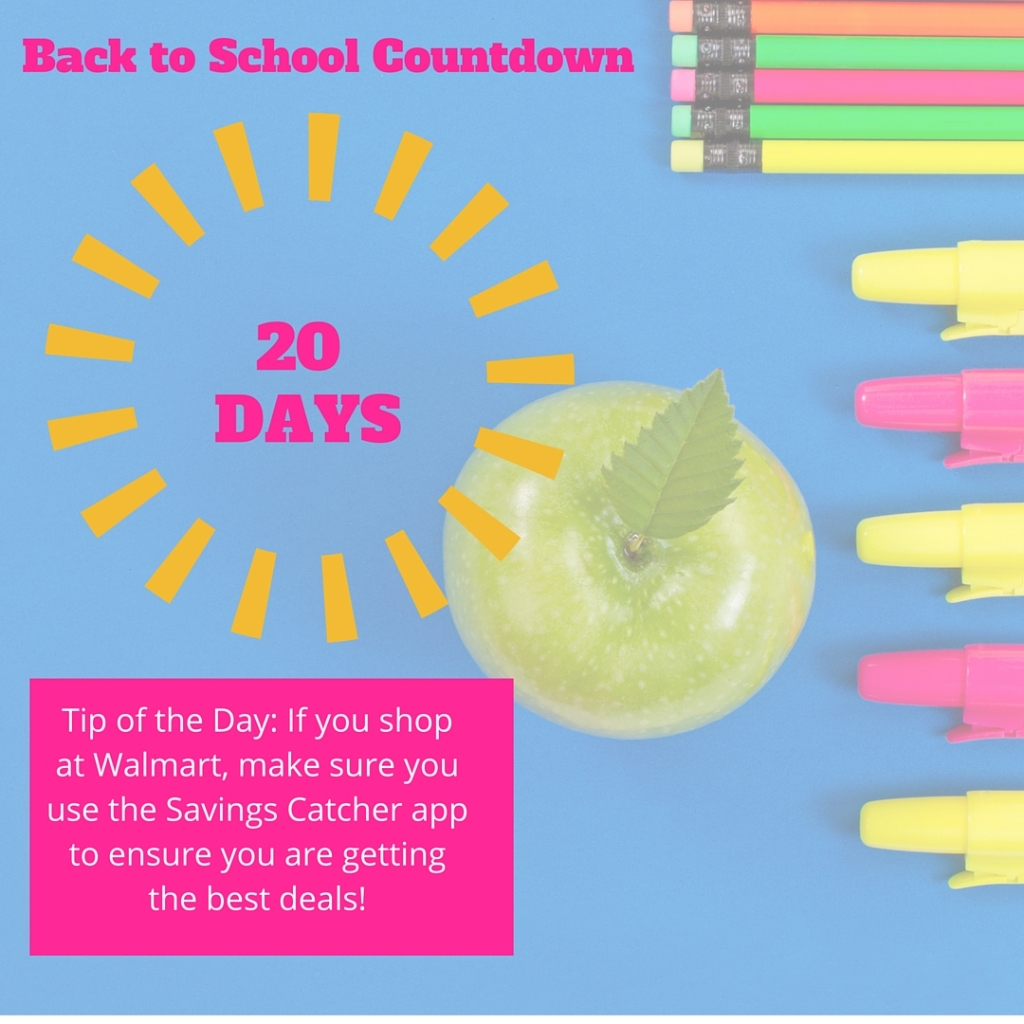 Welcome to Day 20 of our countdown until the school year begins! Most Texas schools begin the week of August 21, so I'm using that as a target date, but feel free to adjust these tips to meet the needs of your family.