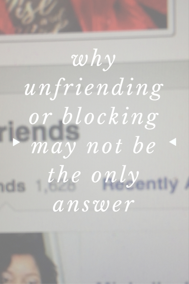 one mom discusses why unfriending may not be the only answer to social media woes