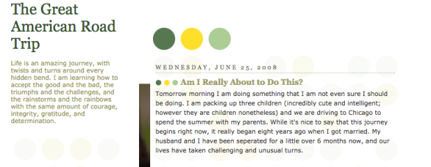 This is a screenshot of home page from one of my early blogs. If you'd like to read the story, click here.